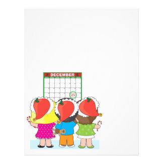 """Calendario del navidad de los niños folleto 8.5"""" x 11"""""""