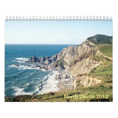Calendario del norte 2012 de los paisajes marinos