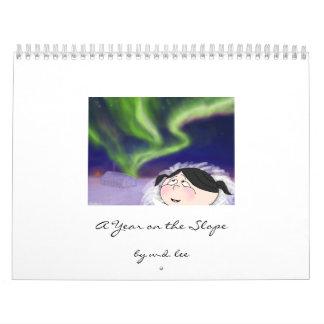 Calendario del norte nativo de la cuesta de Alaska