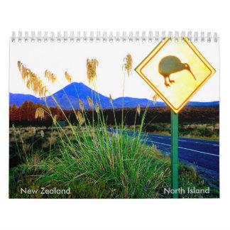 Calendario del norte NZ de la isla