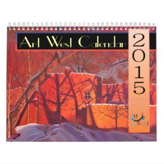 Calendario del oeste 2015 del arte ENORME