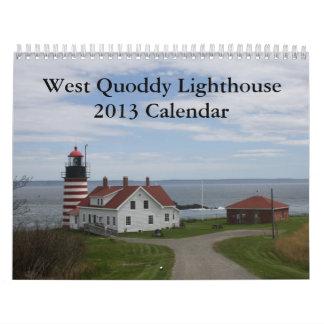 Calendario del oeste del faro de Quoddy