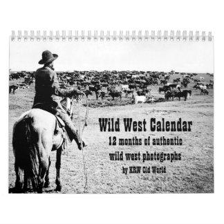 Calendario del oeste salvaje de la fotografía del