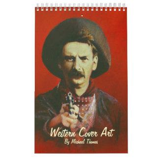Calendario del oeste salvaje del arte de la