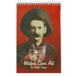 Calendario del oeste salvaje del arte de la cubier