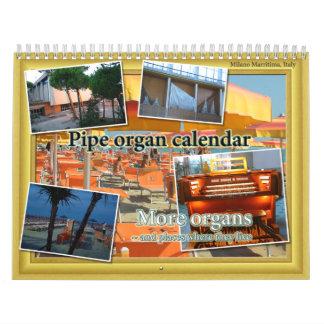 Calendario del órgano y más lugares viven