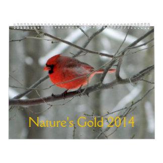 Calendario del oro 2014 de la naturaleza