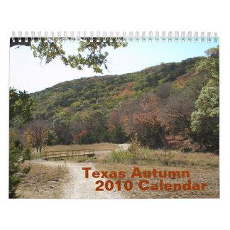 Calendario del otoño 2010 de Tejas