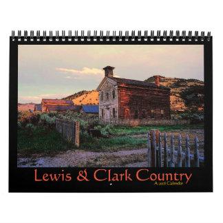 Calendario del país 2016 de Lewis y de Clark