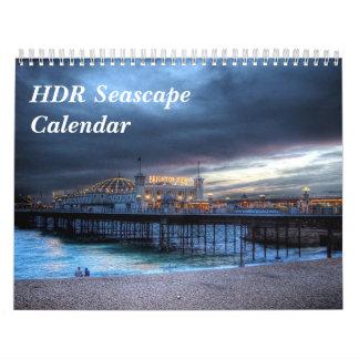 Calendario del paisaje marino de HDR