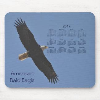Calendario del pájaro de 2017 Eagle calvo por Janz Mouse Pad