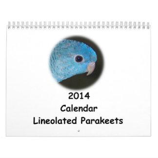 Calendario del Parakeet 2014 de Linnie