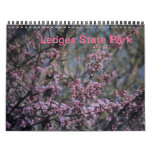 Calendario del parque de estado de las repisas