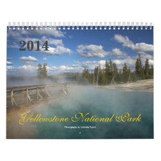 Calendario del parque nacional 2014 de Yellowstone