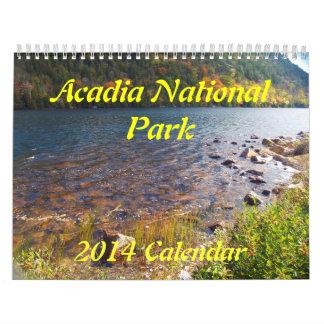Calendario del parque nacional 2014 del Acadia