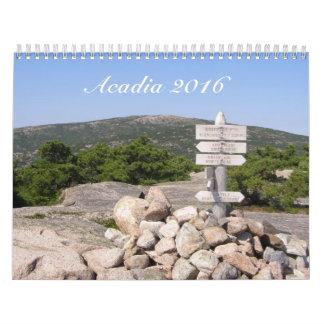 Calendario del parque nacional 2016 del Acadia