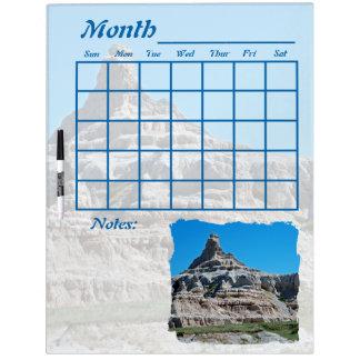 Calendario del parque nacional de los Badlands Pizarra Blanca