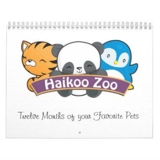 Calendario del parque zoológico de Haikoo