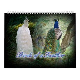 Calendario del pavo real del Birds of a Feather