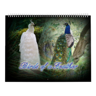 Calendario del pavo real del Birds of a Feather