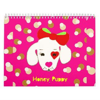 Calendario del perrito de la miel