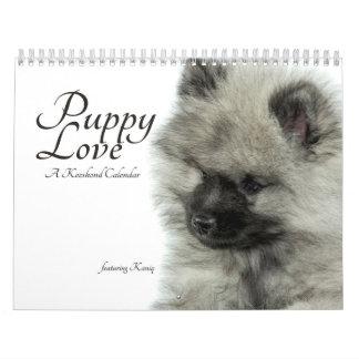 Calendario del perrito del Keeshond