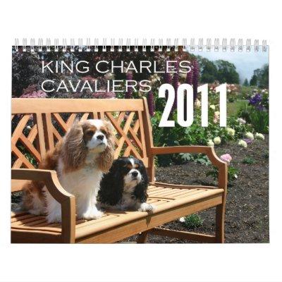 Calendario del perro de aguas de rey Charles de 20