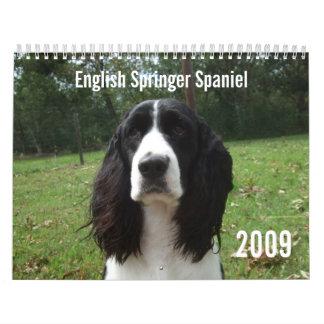 Calendario del perro de aguas de saltador inglés