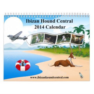 Calendario del perro de Ibizan