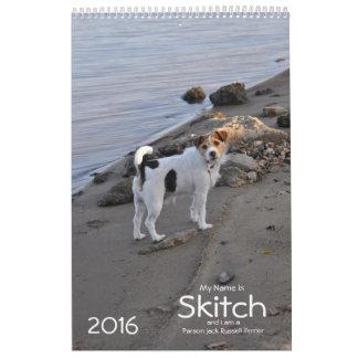 Calendario del perro de Jack Russell Terrier 2016