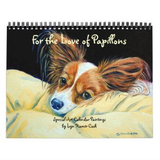 Calendario del perro de Papillon