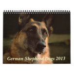Calendario del perro de pastor alemán 2013