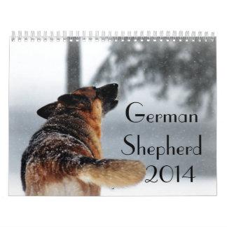 Calendario del perro de pastor alemán 2014