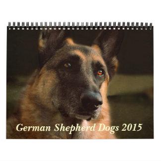 Calendario del perro de pastor alemán 2015