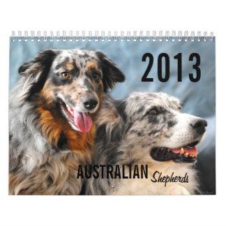 Calendario del perro de pastor de 2013 australiano