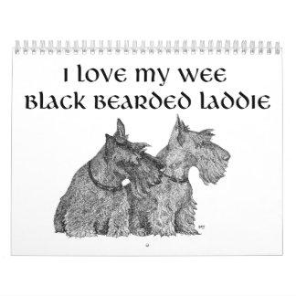 Calendario del perro del escocés