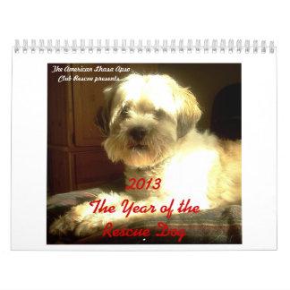 Calendario del perro del rescate de ALAC