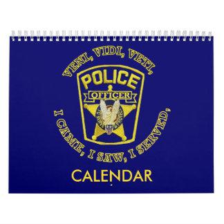 Calendario del personalizado de la policía y del
