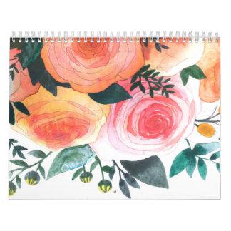 Calendario del personalizado de las pinturas de la