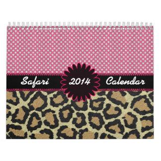 Calendario del personalizado del safari