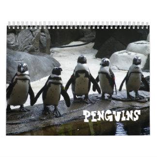 Calendario del pingüino de la fotografía