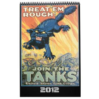 Calendario del poster de la guerra mundial