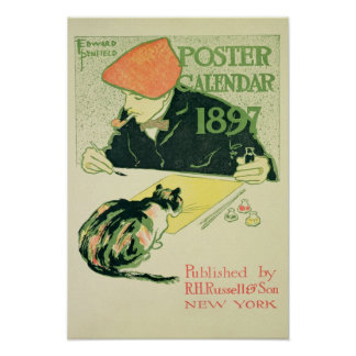 Calendario del poster, pub. por la derecha Russell Póster