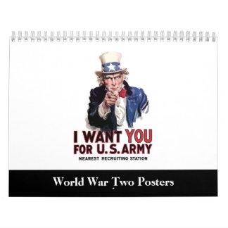 Calendario del poster WW2
