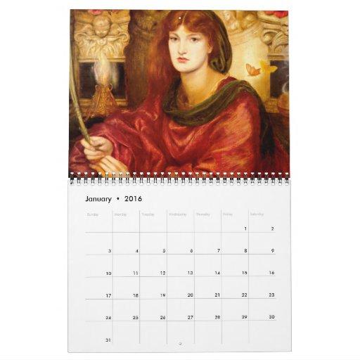 Calendario del Pre-Raphaelite 2012