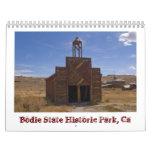 Calendario del pueblo fantasma de Bodie