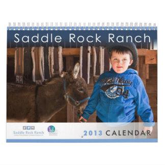 Calendario del rancho 2013 de la roca de la silla