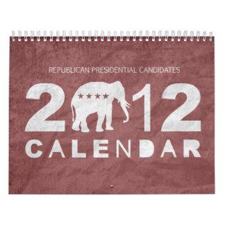 Calendario del republicano 2012