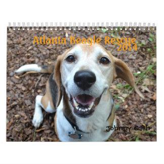 Calendario del rescate 2014 del beagle de Atlanta