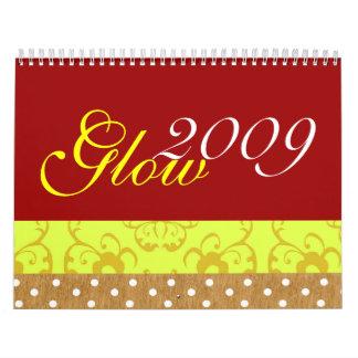 Calendario del resplandor 2009 de la belleza